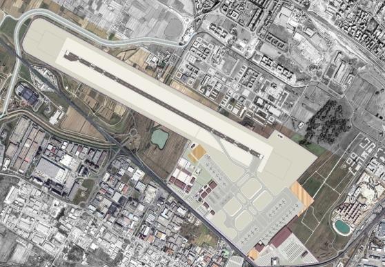 Mappa pista parallela convergente (da 2.400 metri). Credits: il Tirreno