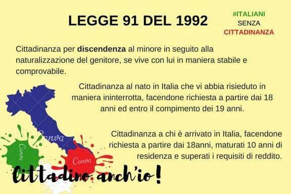 slide legge 91/1992 sulla cittadinanza